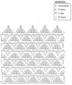 pontos de crochê com gráfico - Pesquisa Google