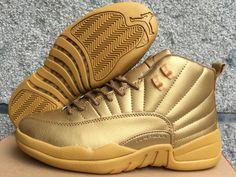 sports shoes 254ee fe1b0 Air Jordan 12 Retro XII Men Basketball Shoes Gold Air Jordan Xii, Air  Jordan 12