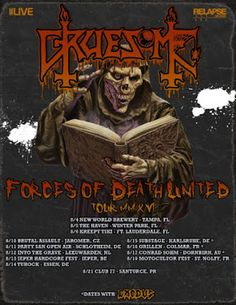 "Long Live The Loud 666: GRUESOME ""FORCES OF DEATH UNITED TOUR 2016"""