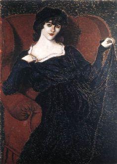 Rippl-Rónai József - Bányai Zorka fekete ruhában