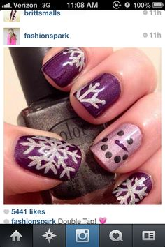 Purple Christmas nails :)