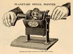 Planetary Pencil Pointer. Showing the Pointer Screwed on a Table, Desk, or Shelf.