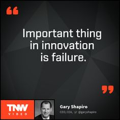 How to be a ninja innovator? Watch Gary Shapiro's talk on TNW Video to find out.