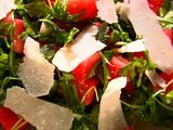 Watermelon and Arugula Salad. The best salad you will put in your mouth! - Review: Seriously. Who knew that watermelon and parm were so amazing together! The best salad you will put in your mouth! So simple! If they ever pull Ina Garten from the airwaves, I will protest!  Make it! It's summer, do it!