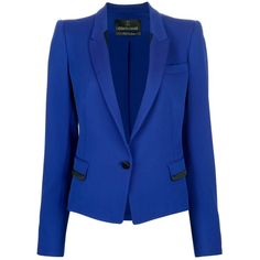 ROBERTO CAVALLI fitted two-tone blazer ($1,820) ❤ liked on Polyvore