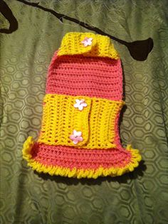 Crochet Sweater for female dogs