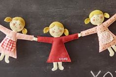 Como fazer bonequinhas de pano usando tecido e feltro