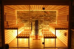 My med spa will have sauna. girls night in parties! Diy Sauna, Sauna Steam Room, Sauna Room, Sauna Design, Relax, Home Spa, Pool Houses, Architecture, Decoration