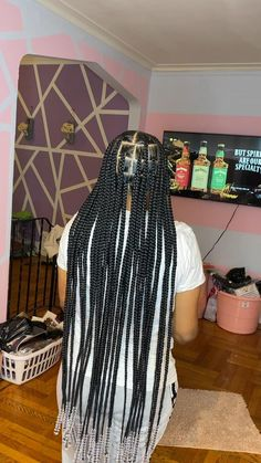 Box Braids Hairstyles For Black Women, Braids Hairstyles Pictures, Twist Braid Hairstyles, Dope Hairstyles, Braided Hairstyles For Black Women, African Braids Hairstyles, Braids For Black Hair, African Hair Braiding, 4 Braids Hairstyle