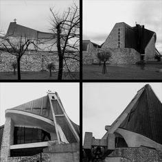 Giovanni Michelucci's Chiesa del Autostrada, outside of Florence, Italy