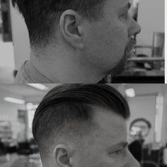 Mens grooming short Mens hair, pompadour.