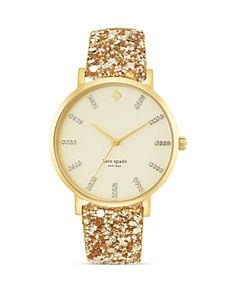 Gold glitter Kate Spade watch!