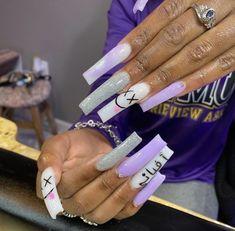 Acrylic Nails Coffin Pink, Classy Acrylic Nails, Long Square Acrylic Nails, Drip Nails, Glow Nails, Bling Nails, Swag Nails, Nagellack Design, Acylic Nails