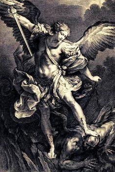 Michael the archangel Archangel Michael Tattoo, St Michael Tattoo, Religious Tattoos, Religious Art, Body Art Tattoos, Sleeve Tattoos, St Micheal, Saint Michael, Angel Tattoo Designs