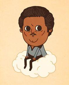 God even in cartoon form he's cool.  #starwars #starwarsday #art #justlikeus #whatchoicedidihave by sirmitchell