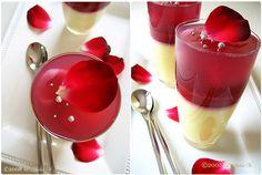 Gelée à la rose et aux litchis, Gelée aux framboises, et Crème Suprême Cups