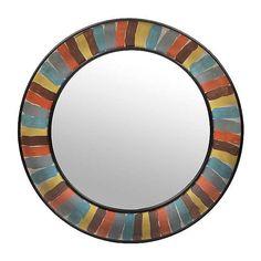 Color Swatch Round Metal Mirror   Kirklands