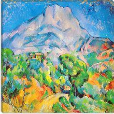 La Montagne St. Victoire by Paul Cezanne Canvas Art Print - iCanvasART.com