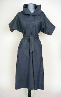 Claire McCardell Charcoal Denim Dress, American, 1940s