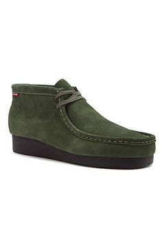 Clarks Padmore Moc Boot In Green Suede  these look SO comfortable!!