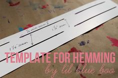 A Template for Hemming