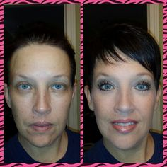 A #Younique makeover! #makeup #beauty #lashes