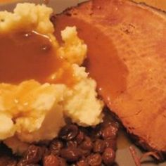 Slow Cooked Ham with Cider and Raisins