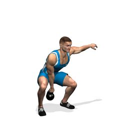 CLEAN ONE ARM KETTLEBELL INVOLVED MUSCLES DURING THE TRAINING GLUTES