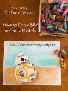 Star Wars BB8 Chalk Art Tutorial at Hodgepodge