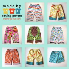 Sewing pattern for baby pants that fit over a fluffy cloth diaper butt