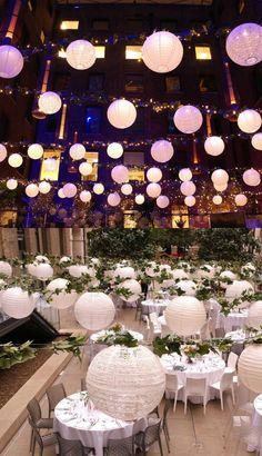Perfect vintage or rustic theme hanging lante - Fairy Lights Terrace Wedding Lanterns, Wedding Decorations, Diy Lace Lanterns, Wedding Favours, Wedding Cards, Wedding Album, Wedding Stuff, Balloon Arch Diy, Hanging Paper Lanterns