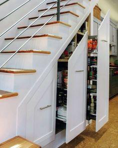 Magnificent Under Stairs Design Ideas Shoe Storage Under Stairs, Cabinet Under Stairs, Under Stairs Dog House, Kitchen Under Stairs, Under Stairs Storage Solutions, Space Under Stairs, Staircase Storage, Stair Storage, House Staircase