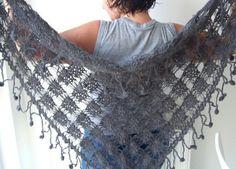 Very beautiful crochet shawl for 4 seasons.er