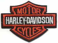 Bar and Shield Harley Orange Patch Made in Missouri USA Harley Davidson Patches, Chevrolet Logo, Bar, Orange