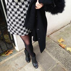 Maddy from Moxham // Ram Black Minidress (now 30% off).