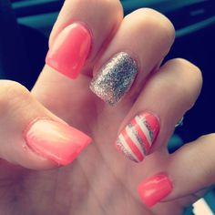 sparkle pink stripes.