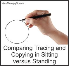 comparing tracing and copying sitting versus standing www.YourTherapySource.com/blog1
