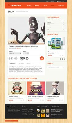 Product page design by John Fraskos
