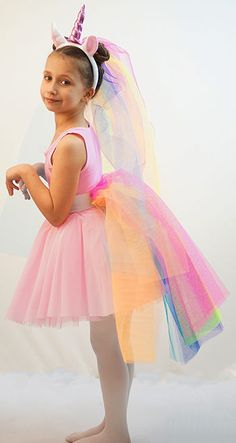 THIS IS A 4 PIECE COSTUME SET COMPRISING OF A PINK BALLET STYLE DRESS WITH AN ATTACHED NET PETTICOAT WHICH ADDS A LOVELY FULLNESS, IT IS FINISHED WITH A DELICATE SOFT MESH OVERLAY. PINK UNICORN COSTUME. | eBay!