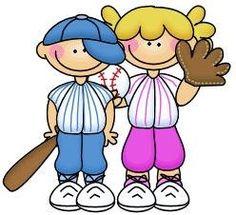 imagen de niños haciendo deporte para imprimir; Imagen de niños jugando al beisbol Baseball More Sports theme