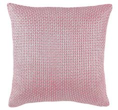 Foil Moss Knit 50x50cm Filled Cushion Rose Blush and Silver | Manchester Warehouse