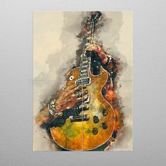 Slash's electric guitar Music Poster Print | metal posters - Displate