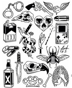 Thank you everyone that participated in my flash tattoo sale and helped me to promote and celebrate the new flash sheets! These designs… Flash Art Tattoos, Body Art Tattoos, New Tattoos, Sleeve Tattoos, Tattoo Flash Sheet, Arabic Tattoos, Dragon Tattoos, Tattoo Geek, Kritzelei Tattoo