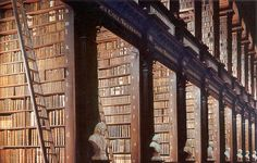 Portable pieces of thoughts: The Most Fascinating Libraries of the World 01 - Trinity College Library in Dublin