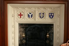 The fireplace in the sitting room demonstrates Pugin's passion for Gothic motif.