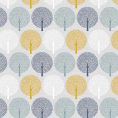 Spot Trees - Birdsong by Joanne Cocker for Dashwood Studio.  Cotton fabric.