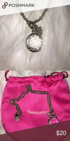 Juicy Couture Necklace all rhinestones still in tact. comes with dust bag Juicy Couture Jewelry Necklaces