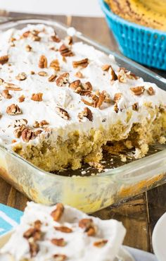 An exceptionally moist and delicious Hummingbird Poke Cake flavored with banana, pineapple, and pecans. Topped with a creamy and sweet cream cheese frosting.