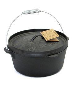 This 8-Qt. Cast Iron Dutch Camp Oven is perfect! #zulilyfinds