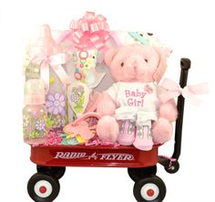 It's a Girl Radio Flyer Baby Gift Basket